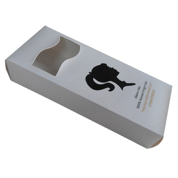 Customized Hair Box For Packaging With PVC Window