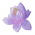 Popular Lotus Iron On Embroidered Patches