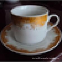 Ceramic cup&saucer ceramic tea cup and saucer set