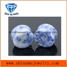 Fashion Body Piercing High Quality Double Flare Stone Plug