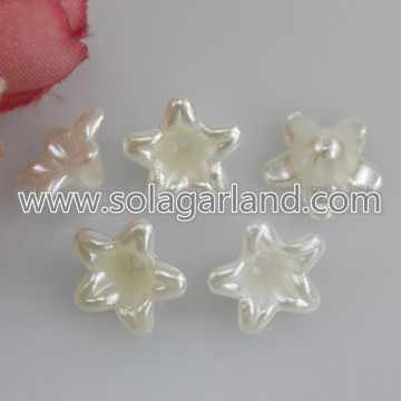 Lucite Flower Beas 12 * 6MM Pearl Plastic Flower Beads Caps