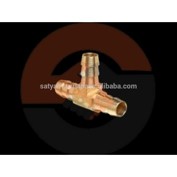Hose 3/8 In Barb with 1/4 In MNPT, Brass Hose T Fittings