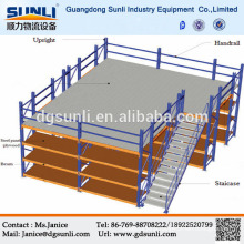 Metal mezzanine floor iron storage rack