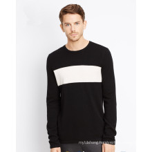 Fashion knitted jumper for men wool custom with intarsia design sweater