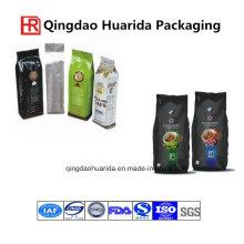 250g 500g 1 kg 2 kg 12 unze 14 unze 16 oz Aluminiumfolie Matte Schwarz Seitenkeilbeutel Kaffee Kunststofftasche Tasche