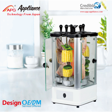 OEM for Electric Chicken Grill APG Electric bbq Grill Mini Kebab Machine supply to French Polynesia Exporter