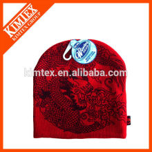 Unisex machine knit acrylic beanie