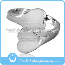 Spezialisieren Sie Edelstahl Feuerbestattung Ring Asche Urne Keepsake Heart Shaped Ring