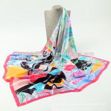 Proveedor barato de seda de la bufanda de la promoción de China de la bufanda en ruso