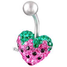 Multi-Juwel Erdbeere 14 Ringe Gauge Nabel Bauch