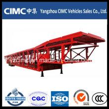 Semi reboque do reboque do caminhão do transporte do carro do eixo do Cimc 3 semi