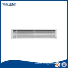 Calandre à barres grille linéaire/air air d'aération en aluminium