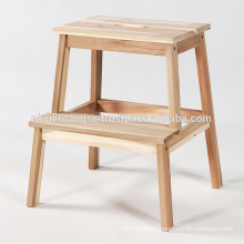 Step Stool with Natural Color Made of Acacia