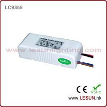 Aprovação CE 3-10X1w Driver de LED de Corrente Constante / Fonte de Alimentação LC9355