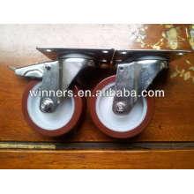 Roda plana giratória de aço inox