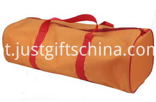 Custom Discount Duffel Bags - Barrel Shaped