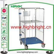 Demountable Roll Container Cart with Plastic Base for Warehouse