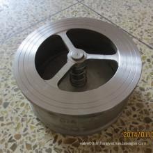 Clapet anti-retour en Wafer en acier inoxydable Pn40