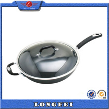 Best Selling New Stainless Steel and Bakelite Handle Aluminium Wok Pan