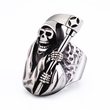 Death Skull Mens Ring Cool Ring voor heren