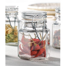 100ml Hexagon Shape Glass Jars with Airtight Ss Clip Glass Cap for Kitchen Daily Useful