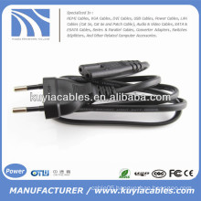Flat EU 2 Prongs Type8 Notebook AC Power Cable