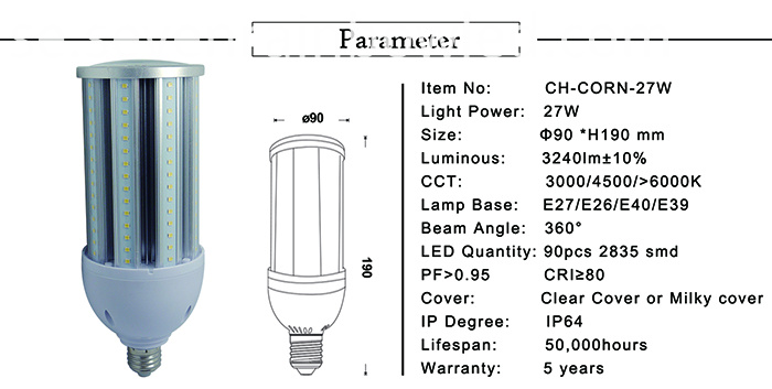 feature of led corn light