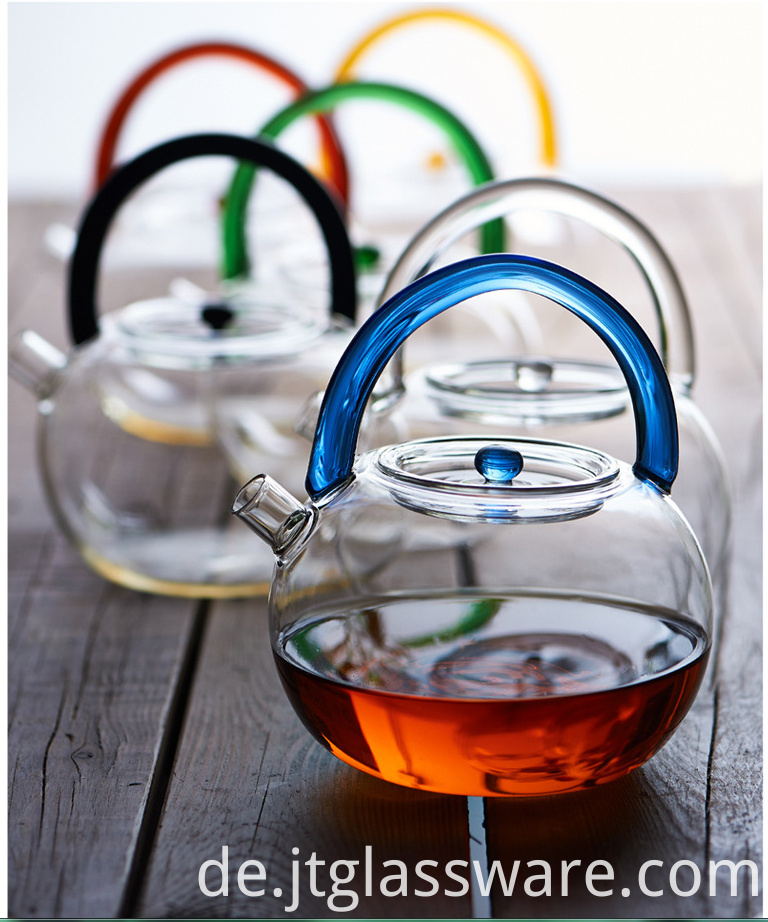 glass boiling water teapot