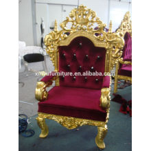 2016 New Design King chair/Gold foil finished chair