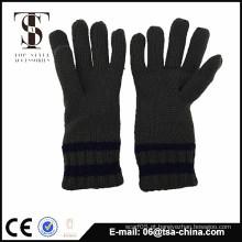 High Quality Knit Acrílico fibra solf Toque homens Luvas