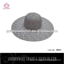 folding straw beach floppy hat