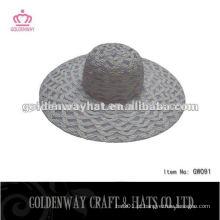 Chapéu de dobramento de praia de palha dobrável