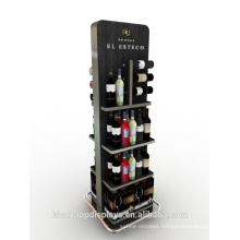 Retail Store Wine Rack Units Metal Water Bottle Wine Glass Cup Alcohol Wine Bottle Display Stand