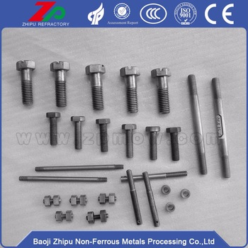 Tungsten and molybdenum hex screws and bolts
