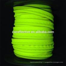 cordon de tuyauterie réfléchissant EN471 coloré pour vêtements