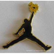 Emblema do metal de Michael Jordon em Cloisonne para o Tag conhecido (emblema-177)
