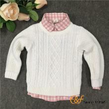 लड़की के लिए शुद्ध रंग कपड़े स्वेटर स्वेटर