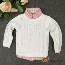 Pure Color Clothes Pullover Sweater for Girl
