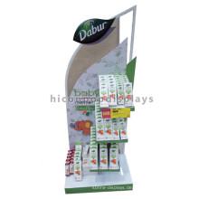 Qualifizierte kundenspezifische Anzeigen-Befestigung-Bodenbelag-Baby-Produkte Einzelhandelsgeschäft-Haut-Sorgfalt-Anzeigen-Zahnstange