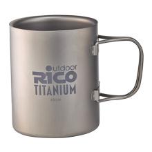 Taza de doble pared de titanio 450ml