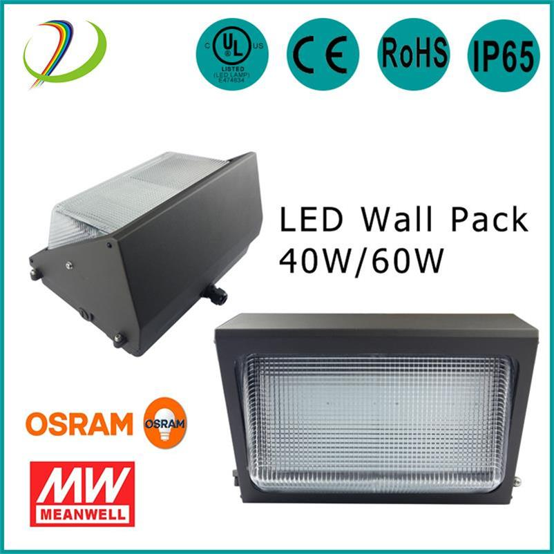 Paquet de mur de LED de rendement élevé 60W