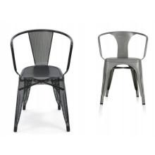 Muebles modernos de jardín de metal comedor silla al aire libre / silla de acero (XS-M821)