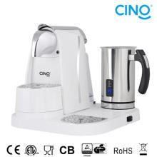 Máquina de café la cápsula L/M con espumador de leche