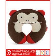 Almohada de almohadilla de cuello de juguete suave de mono de peluche