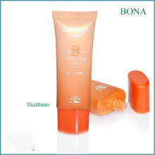 40ml naranja Super tubo oval tubo de plástico cosmético para crema de Bb