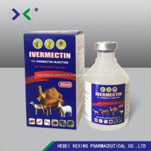 Injection d'ivermectine 1% Flacon en plastique