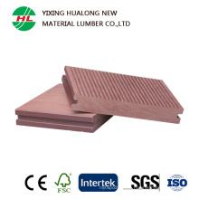 Suelo exterior compuesto de plástico de madera sólida (HLM133)