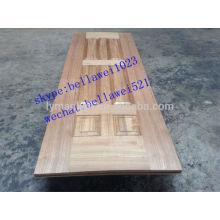 folheado de madeira de teca hdf porta pele