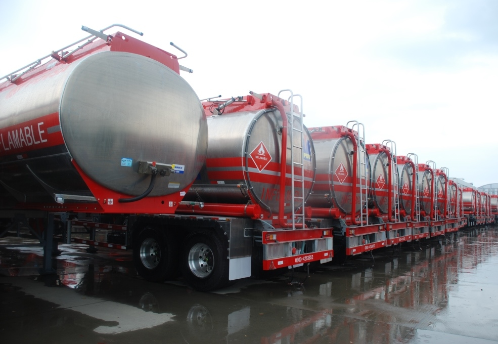 Super Aluminium Petrol Tank Semi-Trailer for PDVSA