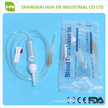 Ensemble de transfusion sanguine le moins coûteux fabriqué en Chine 2016 CE ISO